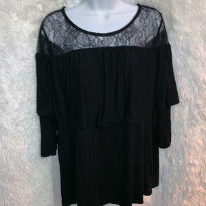 Lane Bryant 3/4 length sleeve blouse Sz 18/20